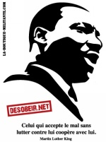 Lot de 10 autocollants Martin Luther King
