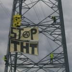 Action contre la ligne THT (Très Haute Tension)
