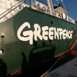 Le navire Rainbow Warrior de l'ONG Greenpeace