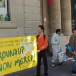 Roundup non merci devant le Ministère de l'écologie