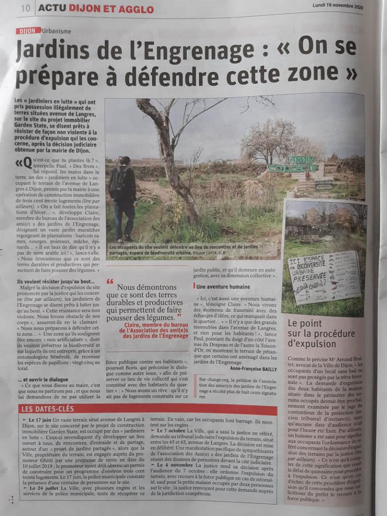 Dijon Bien Public 2020-11-14